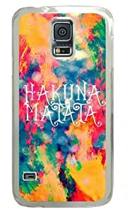 Painted Clouds Samsung Galaxy S5 Transparent Sides Hard Shell Case by ViVilaa