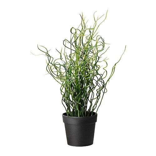 Ikea Artificial Potted Plant, Corkscrew Rush, 15.75 Inch