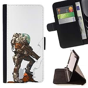 Momo Phone Case / Flip Funda de Cuero Case Cover - Héros du personnage futuriste - Apple Iphone 4 / 4S