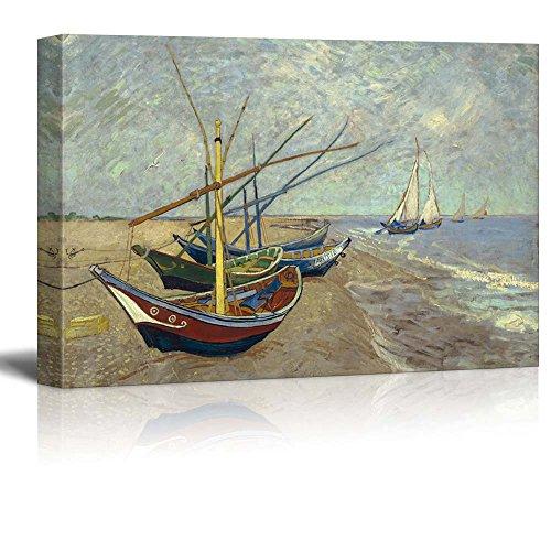 Fishing Boats on the Beach at Les Saintes Maries de la Mer Vincent Van Gogh Oil Painting Reproduction