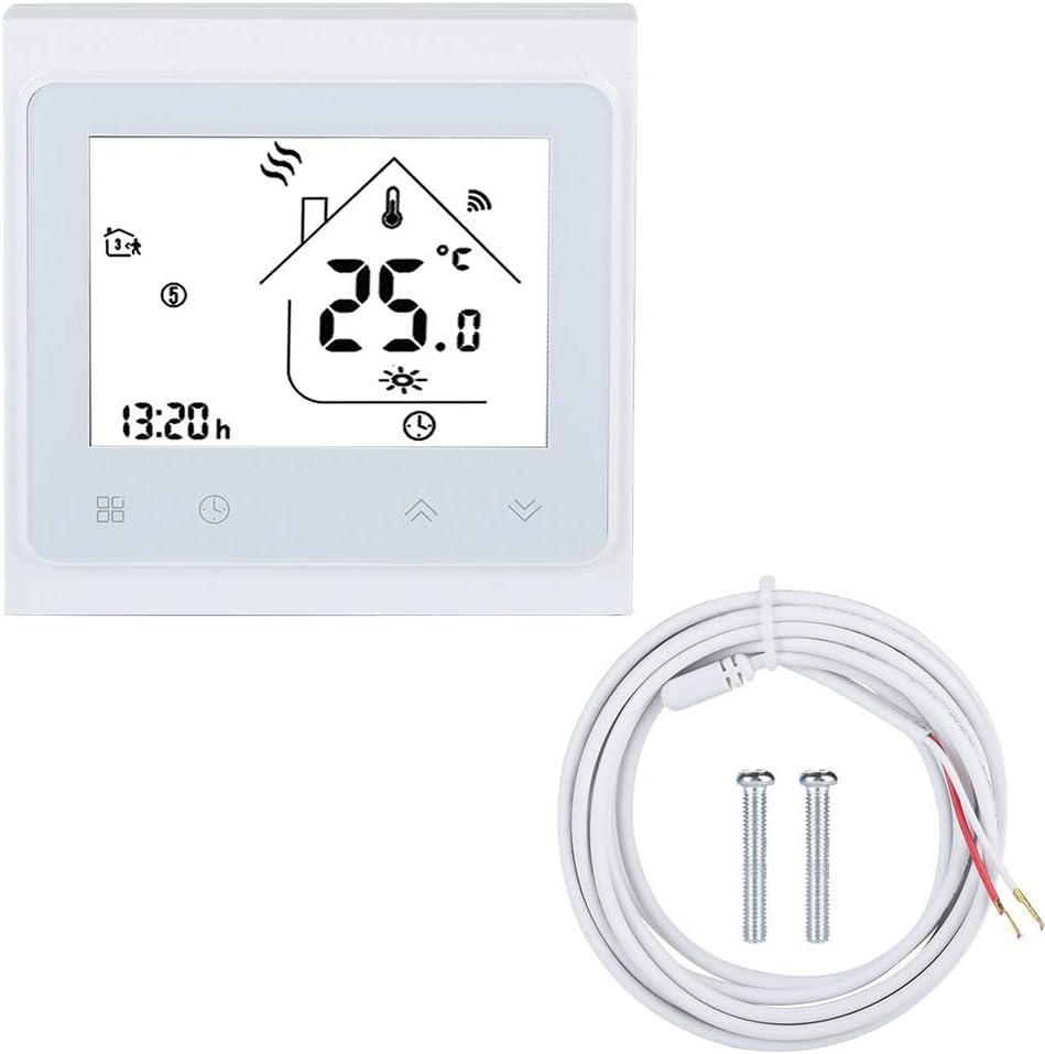 Thermostat Intelligent WiFi Contr/ôleur De Temp/érature pour Plancher Chauffant Electrique avec /écran Tactile LCD,
