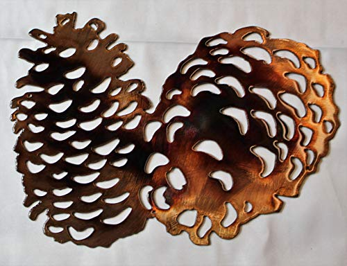 Metal Art Pinecone - Pine Cones Metal Wall Art Accents 9
