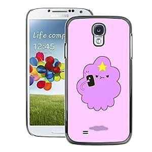 A-type Arte & diseño plástico duro Fundas Cover Cubre Hard Case Cover para Samsung Galaxy S4 (Pink Cloud Funny Star Cute Creature)