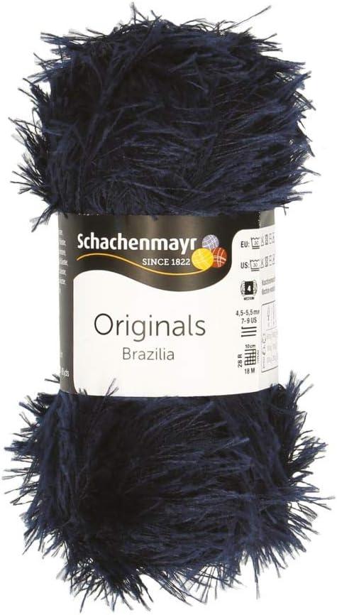 11,5cm x 11,5cm x 5cm Bleu Nuit Schachenmayr Brazilia Fil /à Tricoter