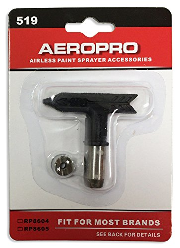 Airless Paint Spray Tip 519 - Compatible with TITAN SC-6,GRACO RAC IV and V,SPRAYTECH XL,ASM SUper-Tip and Uni-Tip,POWERSTROKE ()