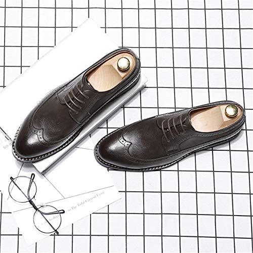Marrone Stringate Uomo Scarpe shoes marrone 39 Eu 5 Jialun qSEBIw