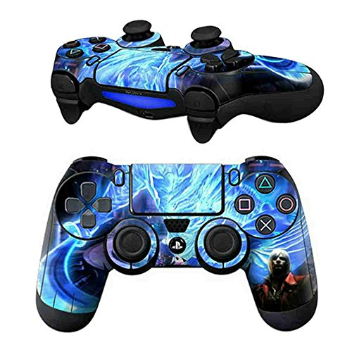 Price comparison product image MODFREAKZ Pair of Vinyl Controller Skins - Blue Light Magic Fantasy for Playstation 4