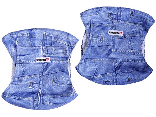 Image of Wegreeco Jeans Washable Male Dog Diapers (Pack of 2) - Washable Male Dog Belly Wrap (X-Large - 25