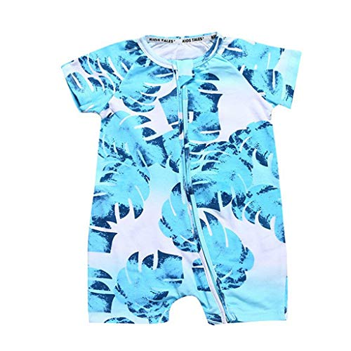 (Comfortable Toddler Newborn Baby Boys Girls Dinosaur Zipper Rompers Jumpsuit Outfits Clothes Short Sleeve Baby Rompers Z 24M)