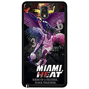 Miami Heat Logo Theme TPU Back Case for For Samsung Glass S4 Cover -by Allthingsbasketball