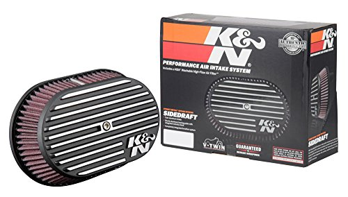 K&N Air Intake System: Air Cleaner Kit for Harley Davidson 2008 - 2017 Touring , Softail Models 96CI, 103CI, Road Glide, Softail, Street Glide, Road King RK-3952 (Harley Davidson Heritage Softail Classic For Sale)