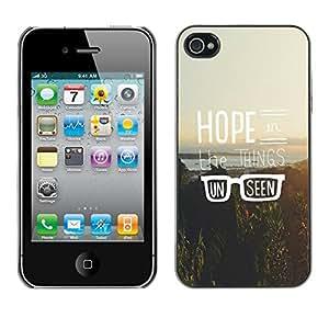 Cubierta de la caja de protección la piel dura para el Apple iPhone 4 / 4S - hipster vintage motivational sun