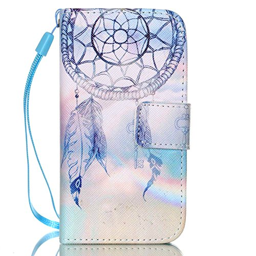iPhone 4S Case,iPhone 4 Case,JanCalm [Wrist Strap Design][Kickstand] Pattern Premium PU Leather Wallet [Card/Cash Slots] Flip Cover for iPhone 4/4SIncluding-ONE Crystal Pen (Aeolian bells) (Iphone 4 Cases Crystal compare prices)