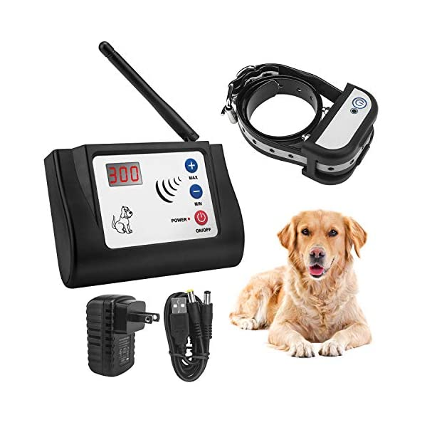 Beinhome Wireless Electric Dog Fence Electronic Outdoor Wireless Fence System for 1 Dog Rechargeable Receiver Collar 1