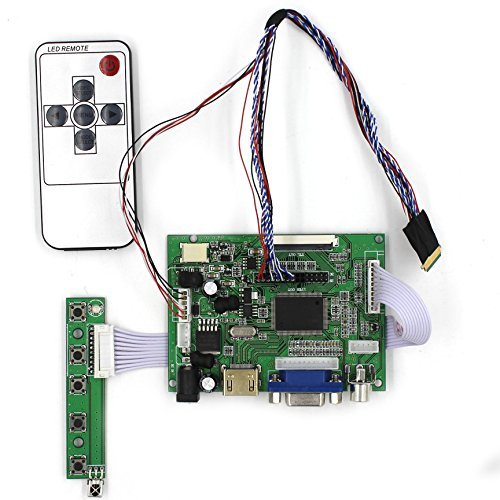 HDMI+VGA+2AV Input LCD Controller Board For B101AW03 CLAA101WB03 10.1'' 1024x600 40Pins LCD Panel by LCDBOARD