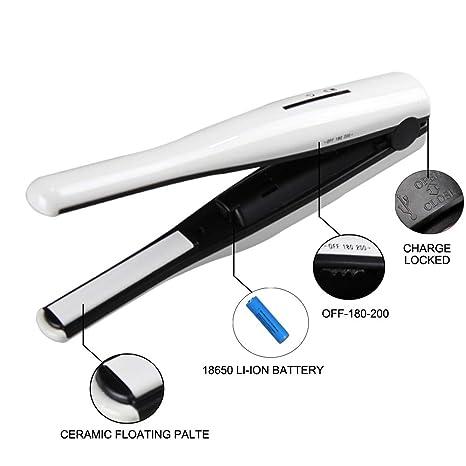 Rizador De Pelo USB Carga Mini Recta Pelo Recto Volumen Doble Uso Inalámbrico Férula Hebilla Aire