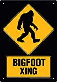 Big Foot Xing Tin Sign 8 x 12in