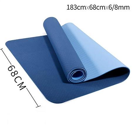 SHLYXY Yoga Mat 6 mm 8 mm de Espesor de Espuma Comfort Yoga ...
