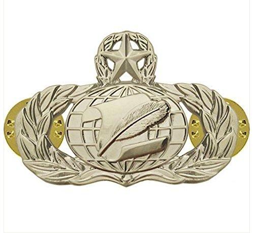 Vanguard AIR Force Badge: Administration: Master - Regulation Size Mirror Finish