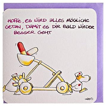 Witzige Genesungskarte Gute Besserung