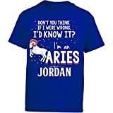 My Family Tee I'd Know It I'm An Aries Woman Named Jordan Gift - Girl Kids T-Shirt