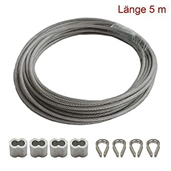 AUFODARA 5m de longitud de alambre de acero inoxidable con ...