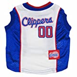 Los Angeles Clippers NBA dog pet tank jersey L 32-48lbs