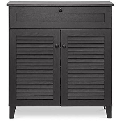 Amazon Com Entryway Wooden Floor Cabinet With Top Drawer Shoe