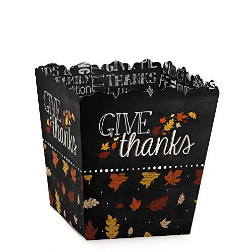 Give Thanks - Candy Boxes Thanksgiving Party Favors (Set of 12) (Thanksgiving Favors)