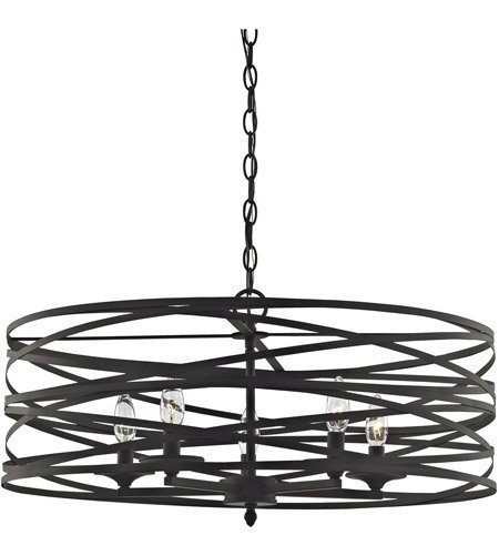 - Chandeliers 5 Light with Oil Rubbed Bronze Finish Candelabra 26 inch 300 Watts - World of Lamp