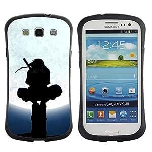 "Pulsar iFace Series Tpu silicona Carcasa Funda Case para SAMSUNG Galaxy S3 III / i9300 / i747 , Ninja Negro Máscara Artes de combate Warrior Marciales"""