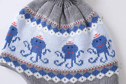 Home Prefer Boys Toddlers Kids Hats with Earflaps Warm Skull Beanie Hat with Fleece XL by Home Prefer (Image #3)
