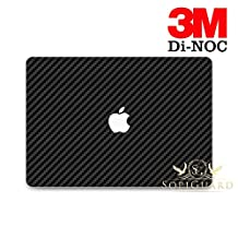 SopiGuard 3M Di NOC Carbon Fiber Full Body Vinyl Skin Apple Macbook Pro 13 Non Retina