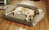 Orvis Memory Foam Bolster Dog Bed/Small Dogs Up to 40 Lbs, Brown Tweed Review