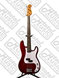 Oscar Schmidt by Washburn P-Style Electric Bass Guitar, Trans Red, OSB-400C TR