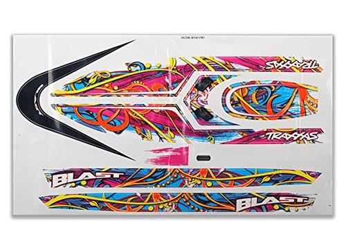 - Traxxas TRA3816 Blast decal set (swirl pattern) (waterproof)