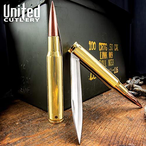 United Cutlery UC2736 50 Caliber Bullet Folding Knife