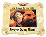 Home-X Pet Memorial Frame-No Longer by My Side Forever in My Heart-Remembrance Picture Frame, Sympathy for Loss of Dog or Cat-Fits Standard 4x6 Photograph