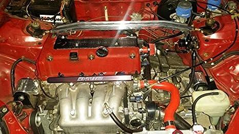 2006 2010 Acura Honda Civic Si K20 K24 Motor Real de fibra de carbono cubierta de la bujía a #: Amazon.es: Coche y moto
