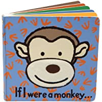 Jellycat Board Books, If I Were a Monkey - 6 inches