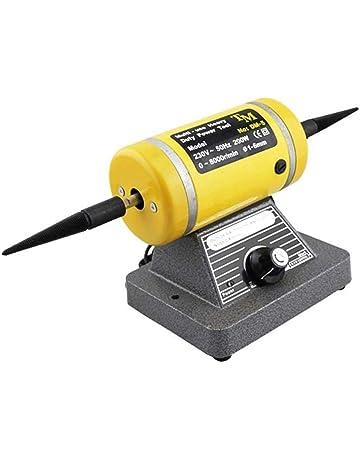 gr-tech Instrumento® Banco Torno Pulido Pulidora de velocidad variable Motor Lavadora Jewery Pulidora