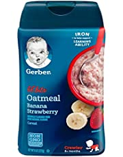 Gerber Lil' Bits Oatmeal Cereal, Banana Strawberry, 227g