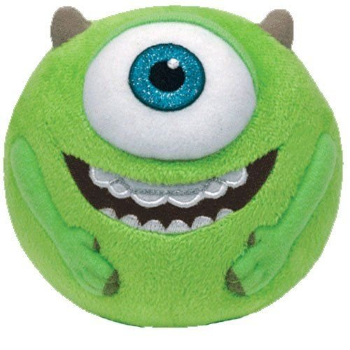 Ty Beanie Ballz Mike Green Eyeball Medium Plush