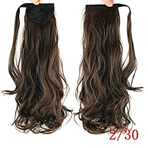 Kabello Synthetics Hair Piece Ponytail Clip On Extension Voluminous Curly Ponytail For Girls
