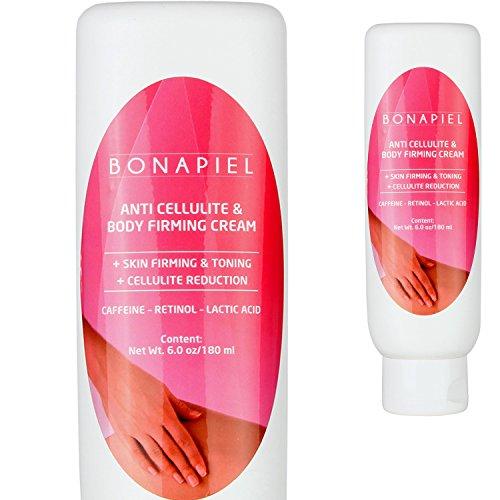 Bonapiel Anti Cellulite Creme mit Koffein und Retinol - Straffende Lotion, 180ml
