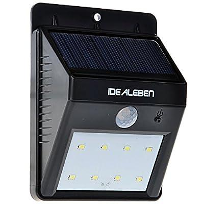 Idéal Eben 8 LED Lampe applique murale extérieure sans fil Lampe ...
