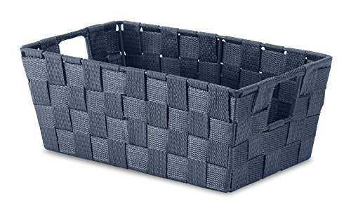 Whitmor Woven Strap Small Shelf Tote Navy