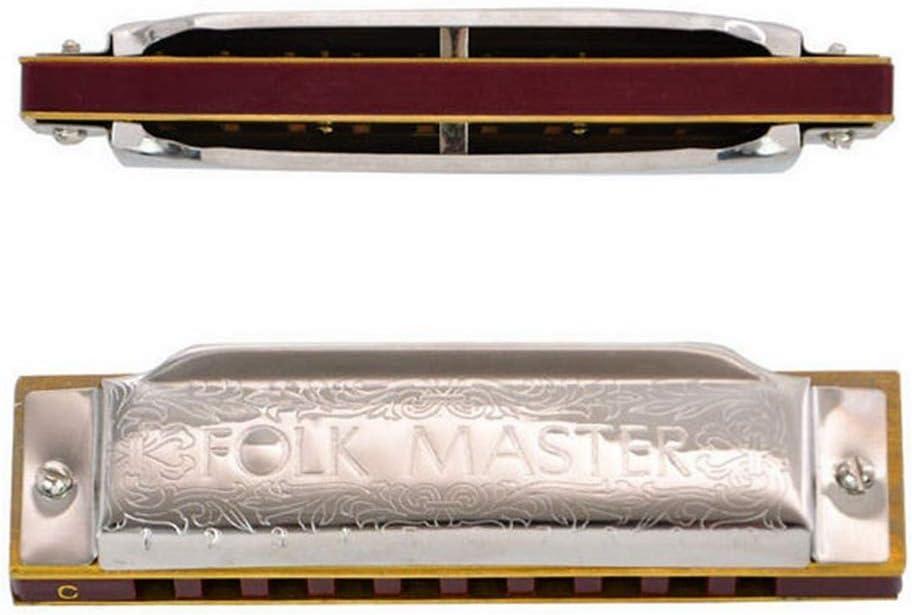 SHUHUAN 10 Hoyos 20 Tonos Acento Blues armónica Plata Caja de plástico órgano de la Boca ABCDEFG Clave Mini Arpa portátil