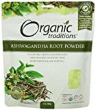 Organic Traditions Organic Powder, Ashwagandha, 7 Ounce (Pack of 12)