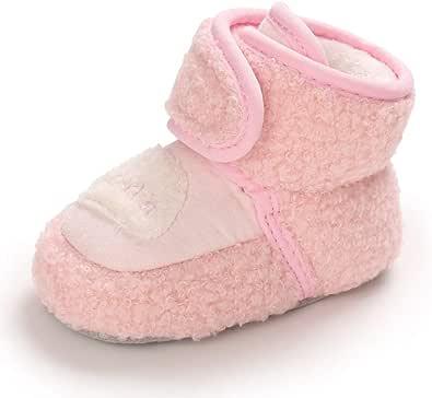 Botas de Bebé Niña Niño Invierno Zapatos Primeros Pasos con Suela Suave Botitas Recién Nacido de Algodón Calentar